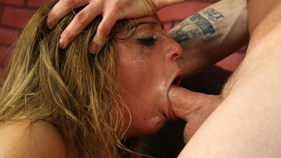Latina throat fuck